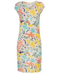 Paul Smith Palette Floral Print Jersey T-Shirt Dress - Lyst
