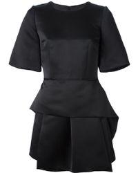 Alexander McQueen Pleated Hem Dress - Lyst
