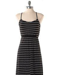 Tommy Hilfiger Stripe Strappy Cotton Maxi Dress - Lyst
