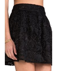 Blaque Label Lace Circle Skirt in Black - Lyst