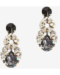 Tataborello Crystal Cluster Drop Earrings - Lyst