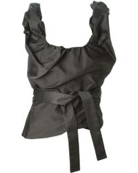 Vivienne Westwood Red Label Draped Corset Top gray - Lyst