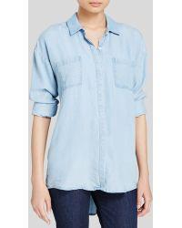 Splendid Shirt - Light Wash blue - Lyst