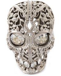 Alexander McQueen Skull Cocktail Ring - Lyst