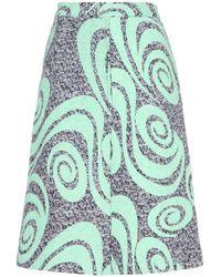 Acne Studios Kier Printed Tweed Skirt - Lyst