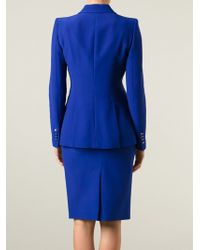 Alexander McQueen Blazer And Skirt Suit - Blue