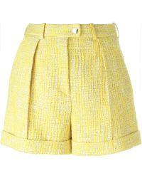Carven Tweed Shorts - Yellow