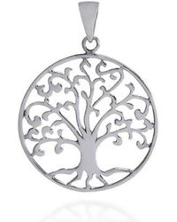 Aeravida - Cosmic Swirl Tree Of Life Symbol Sterling Silver Pendant - Lyst