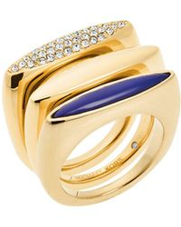Michael Kors - Mixed Stacking Rings - Lyst
