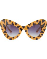 Jeremy Scott Tiger Print Cateye Sunglasses Tiger Print - Lyst