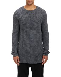 NLST - Waffle-stitched Elongated Jumper - Lyst