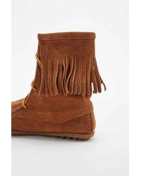 Minnetonka - Tramper Tan Fringe Boots - Lyst