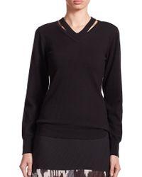 Altuzarra   Kapok Cutout V-neck Sweater   Lyst