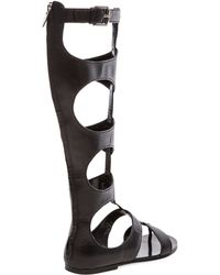e72b5121996f Basper Studded Knee-high Gladiator Sandal.  495 Sold out. Bergdorf Goodman  · Sigerson Morrison - Bodie High Gladiator in Black - Lyst