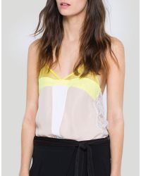 Sandro Top - Ever Color Block Cami beige - Lyst