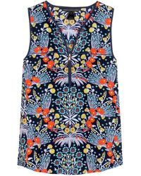 Marc By Marc Jacobs Maddy Printed Silk Top - Lyst