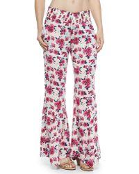 Tori Praver Swimwear - Delhi Floral-print Beach Pants - Lyst