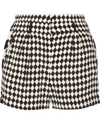 Sass & Bide Fair Exchange Printed Crepe Shorts - Lyst