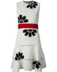 Alexander McQueen Flower-Jacquard Dress - Lyst