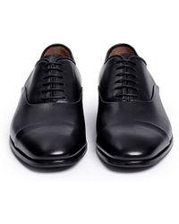 Giorgio Armani | Toe Cap Leather Oxfords | Lyst