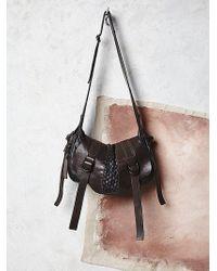 Free People Womens Luisa Leather Bag black - Lyst