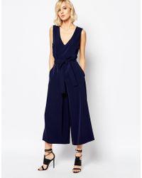 Gestuz - Adie Soft Tailored Jumpsuit With Tie Waist - Lyst
