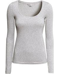 H&M Top In Pima Cotton - Lyst