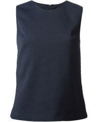 Theory Blue Sleeveless Top - Lyst