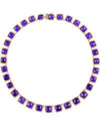 Larkspur & Hawk Bella Rose Gold-Dipped Amethyst Rivière Necklace - Lyst