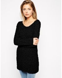 Asos Slouch Jumper In Textured Knit - Lyst