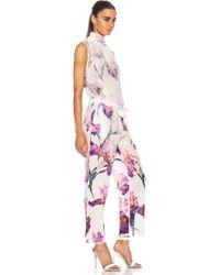 Nina Ricci Turtleneck Silk Jumpsuit - Purple