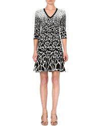 Roberto Cavalli Jacquard Animal Print Dress Multi Black - Lyst