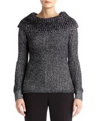 Anne Klein Cowl Neck Sweater - Lyst