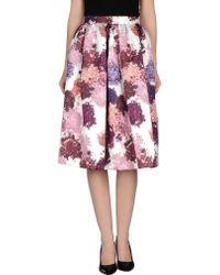 MSGM 3/4 Length Skirt - Lyst