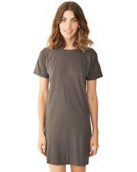 Alternative Apparel Modal T-Shirt Dress - Lyst