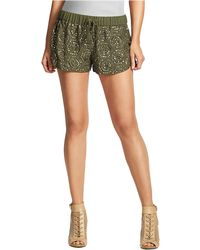Guess Green Geosequined Shorts - Lyst
