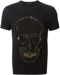 Alexander McQueen Zip Skull Tshirt - Lyst