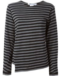 Comme Des Garçons Striped Sweater - Lyst