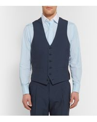 Thom Sweeney Navy Mount Street Cotton Three-Piece Suit - Lyst