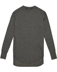 Damir Doma Mens Trent Long Sleeved Light Jersey Striped Top - Lyst