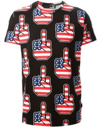 Love Moschino All-Over Print T-Shirt - Lyst