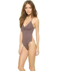 L*space L Wild Side One Piece Swimsuit - Pebble - Lyst