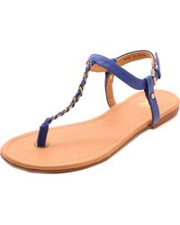 Joe's Jeans   Elanor Chain Trim Sandals Red   Lyst