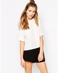 First & I Turtleneck Top - White
