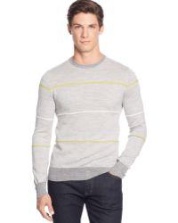 Calvin Klein Birds Eye Striped Crew-neck Sweater - Lyst