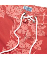J.Crew - Long-Length Floral-Patterned Swim Shorts - Lyst