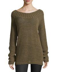 Donna Karan New York Wide-neck Slouchy Sweater - Lyst