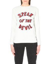 A Question Of - Speak Of The Devil Fitted Cotton-Jersey Sweatshirt - For Women - Lyst