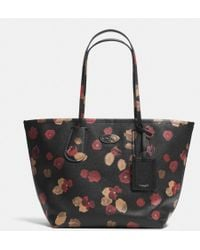 Coach Taxi Tote 28 in Floral Print Leather - Lyst