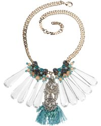 Stefanel Crystal Necklace with Pendant - Lyst